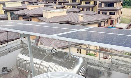 明苑别墅太阳能板案例