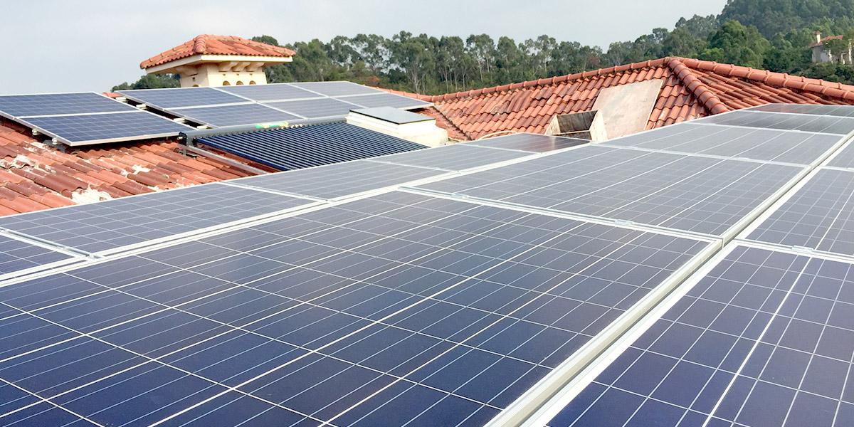 深圳观澜高尔夫安装太阳能光伏发电系统案例