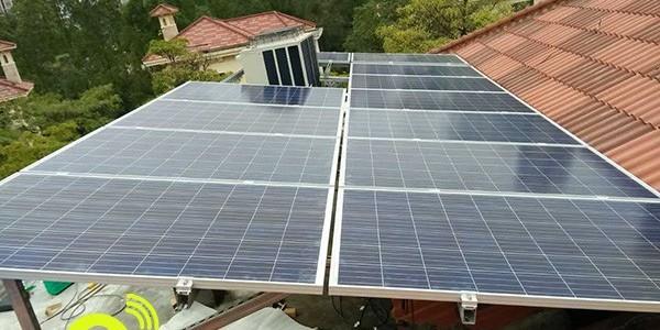 回访深圳观澜高尔夫上堤别墅王姐介绍邻居安装太阳能发电「大家有」